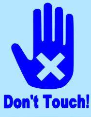 ニキビに触ってはいけません