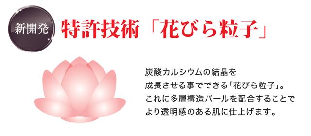 花びら粒子のファンデーション