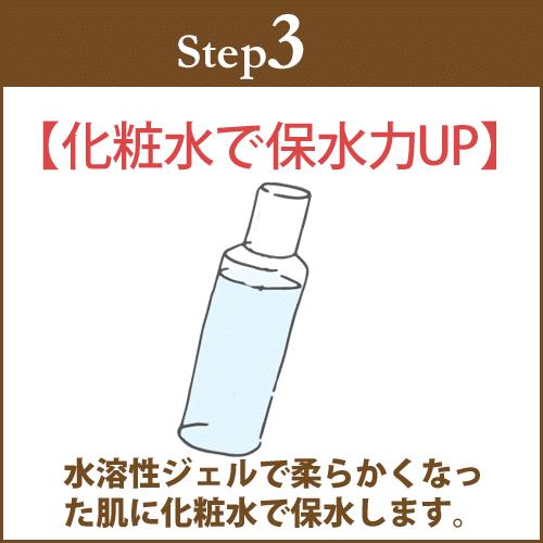化粧水で保水力アップ