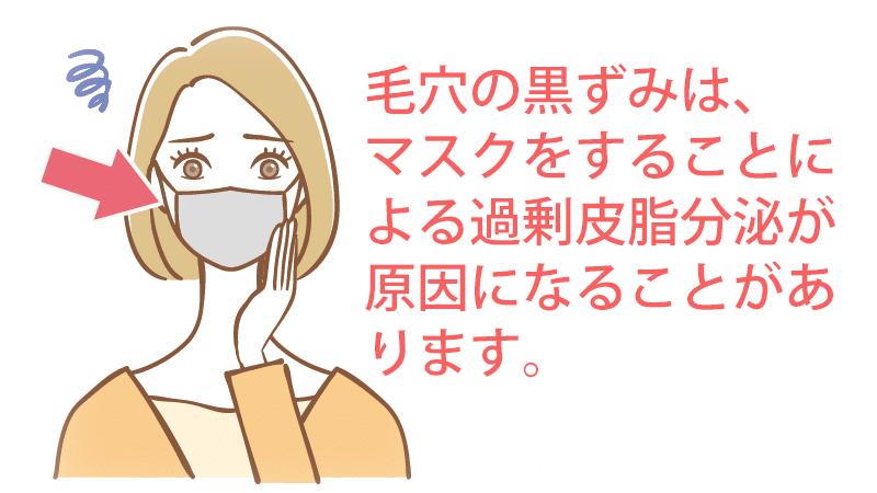 マスクをすることによる過剰皮脂