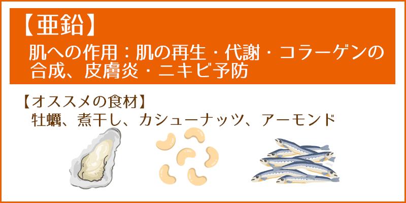 【カリウム】肌への作用:皮脂分泌の抑制 --オススメの食材 バナナ、トマト、ブロッコリー、ホウレン草、きな粉、昆布